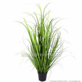 Umělý svazek trávy Miskant obrovský v květináči 100 cm