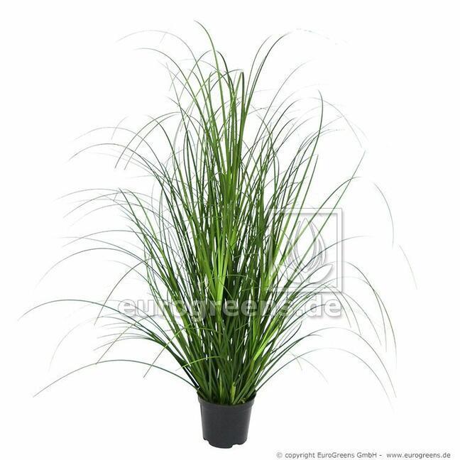 Umělý svazek trávy Ostřice hnědá v květináči 60 cm
