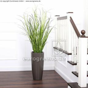 Umělý svazek trávy Rákos obecný v květináči 130 cm