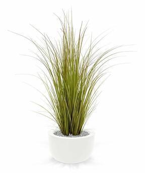 Umělý světle zelený svazek trávy v květináči 100 cm