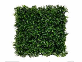 Umělý tmavozelený listnatý panel Kapradina - 50x50 cm