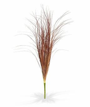 Umělý zapichovací svazek trávy burgundy 60 cm