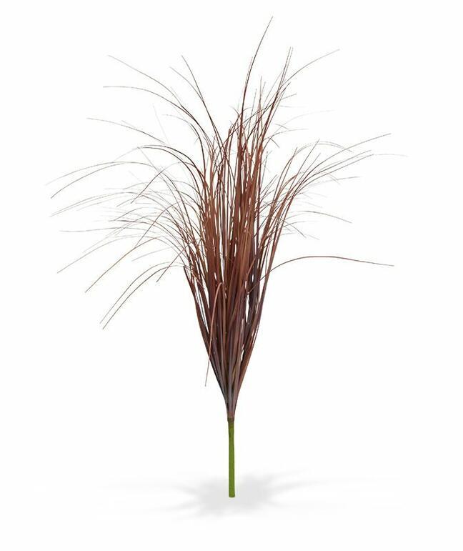 Umělý zapichovací svazek trávy burgundy 80 cm