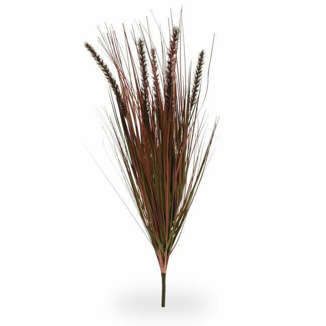 Umělý zapichovací svazek trávy Dochan burgundy 75 cm