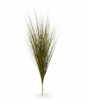 Umělý zeleno-hnědý zapichovací svazek trávy Ozdobnice čínská 85 cm
