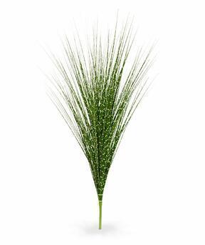 Umělý zeleno-žlutý zapichovací svazek trávy Ozdobnice čínská 85 cm